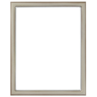 Hamilton Rectangle Frame # 551 - Taupe with Silver Lip