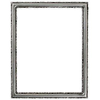Virginia Rectangle Frame # 553 - Silver Leaf with Black Antique