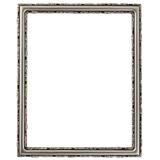 Rectangle Frame in Silver Leaf Finish with Brown Antique| Simple ...