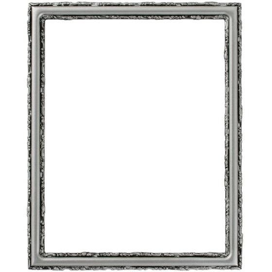 Virginia Rectangle Frame # 553 - Silver Spray