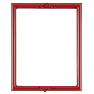 Contessa Rectangle Frame # 554 - Holiday Red