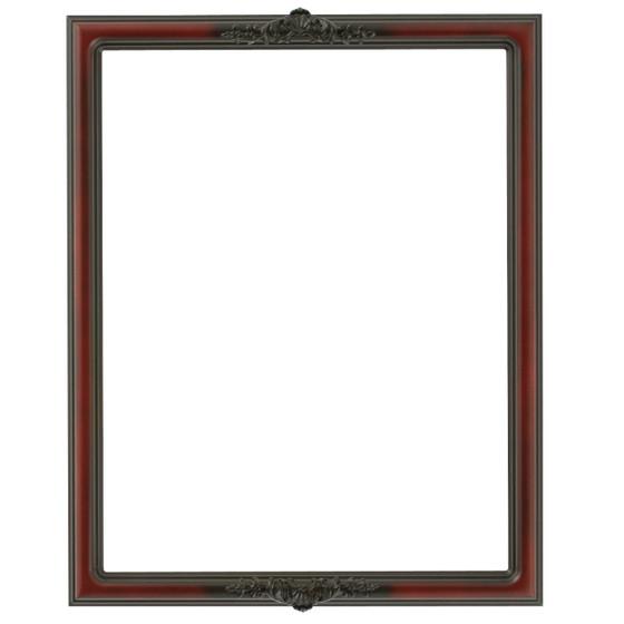 Contessa Rectangle Frame # 554 - Rosewood