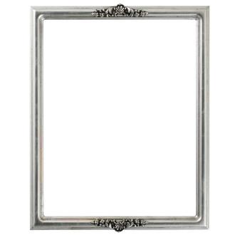 Contessa Rectangle Frame # 554 - Silver Leaf with Black Antique