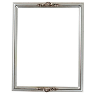 Contessa Rectangle Frame # 554 - Silver Leaf with Brown Antique