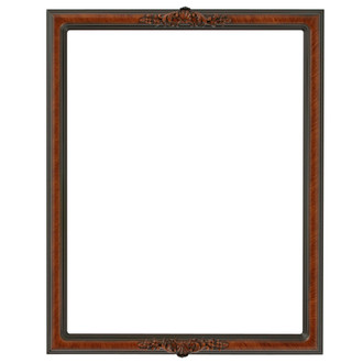 Contessa Rectangle Frame # 554 - Vintage Walnut