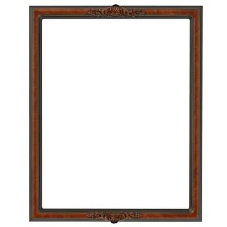 Contessa Rectangle Frame # 554 - Vintage Walnut
