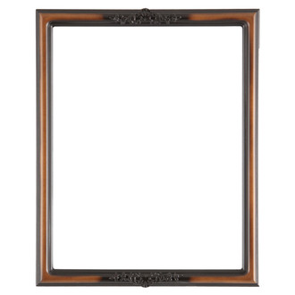 Contessa Rectangle Frame # 554 - Walnut