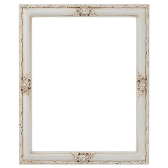 Jefferson Rectangle Frame # 601 - Antique White