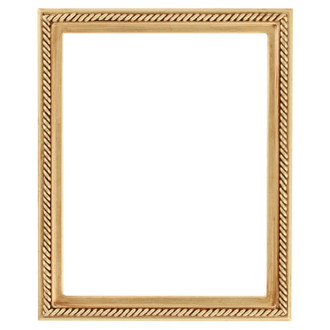 Santa Fe Rectangle Frame # 604 - Gold Leaf