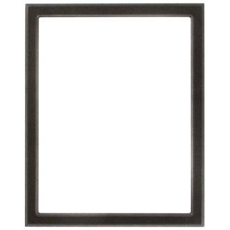 Toronto Rectangle Frame # 810 - Black Silver