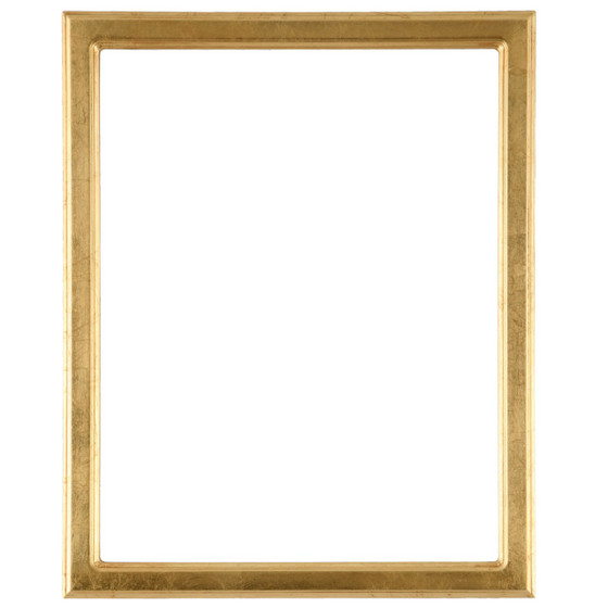 Rectangle Frame In Gold Leaf Finish Simple Antique Gold Wooden