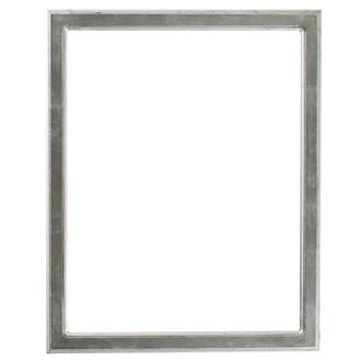 Toronto Rectangle Frame # 810 - Silver Leaf with Black Antique