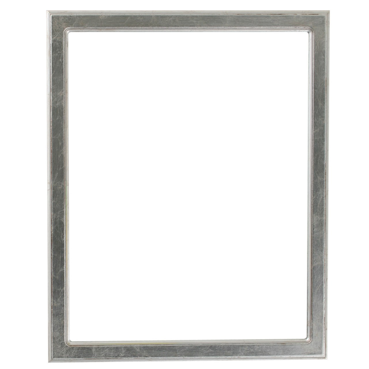 1f594da87c45 Rectangle Frame in Silver Leaf Finish with Brown Antique