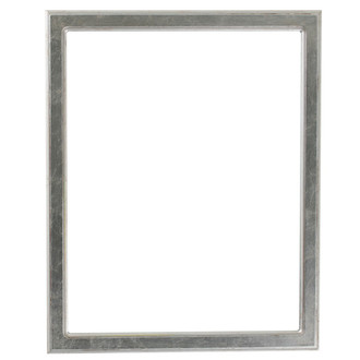 Toronto Rectangle Frame # 810 - Silver Leaf with Brown Antique