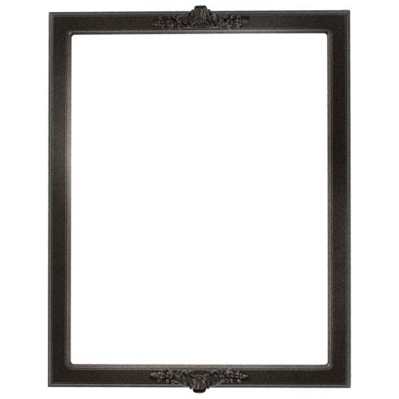 Athena Rectangle Frame # 811 - Black Silver