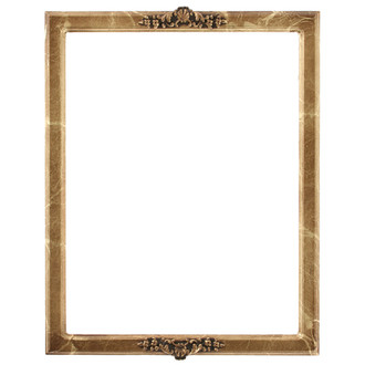 Athena Rectangle Frame # 811 - Champagne Gold