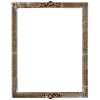 Athena Rectangle Frame # 811 - Champagne Silver
