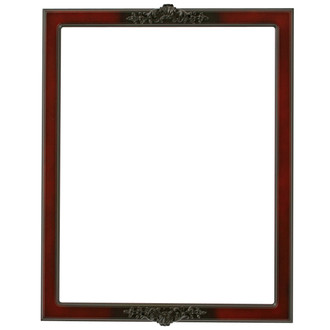 Athena Rectangle Frame # 811 - Rosewood