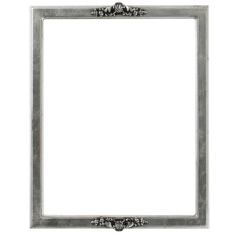 Athena Rectangle Frame # 811 - Silver Leaf with Black Antique