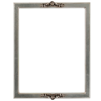 Athena Rectangle Frame # 811 - Silver Leaf with Brown Antique