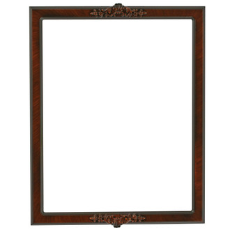 Athena Rectangle Frame # 811 - Vintage Walnut