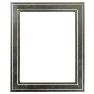 Wright Rectangle Frame # 820 - Silver Leaf with Brown Antique