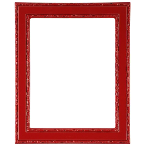 Rectangle Frame in Holiday Red Finish| Flat Profile Picture Frames ...