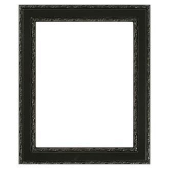 Monticello Rectangle Frame # 822 - Matte Black