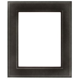 Montreal Rectangle Frame # 830 - Black Silver