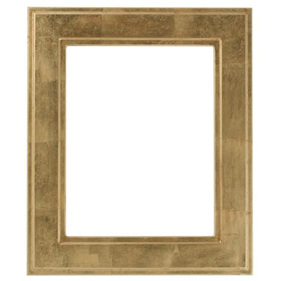 Rectangle Frame In Gold Leaf Finish Wide Profile Antique Gold
