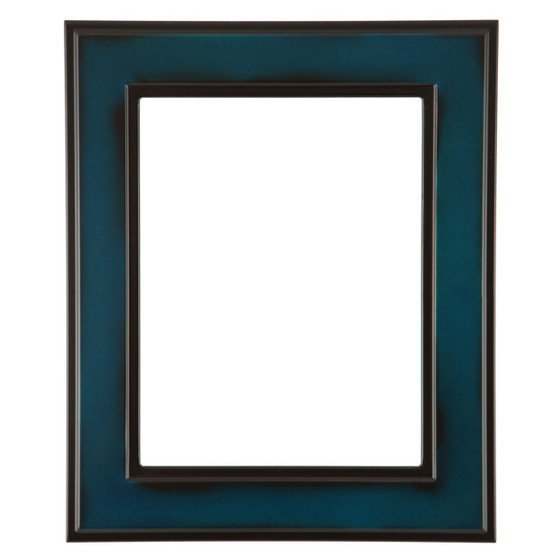 Rectangle Frame In Royal Blue Finish Wide Profile Blue Picture
