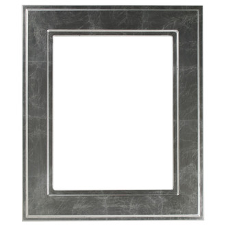 Montreal Rectangle Frame # 830 - Silver Leaf with Black Antique