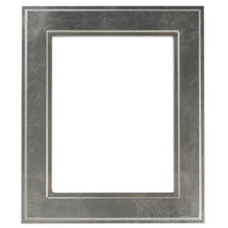 Montreal Rectangle Frame # 830 - Silver Leaf with Brown Antique