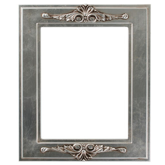Ramino Rectangle Frame # 831 - Silver Leaf with Brown Antique