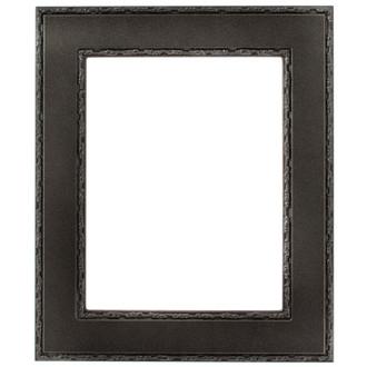 Paris Rectangle Frame # 832 - Black Silver