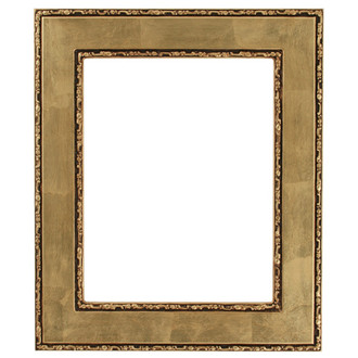 Paris Rectangle Frame # 832 - Gold Leaf