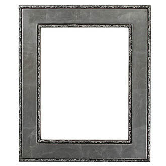 Paris Rectangle Frame # 832 - Silver Leaf with Black Antique
