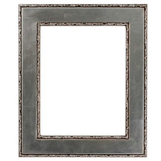 Paris Rectangle Frame # 832 - Silver Leaf with Brown Antique