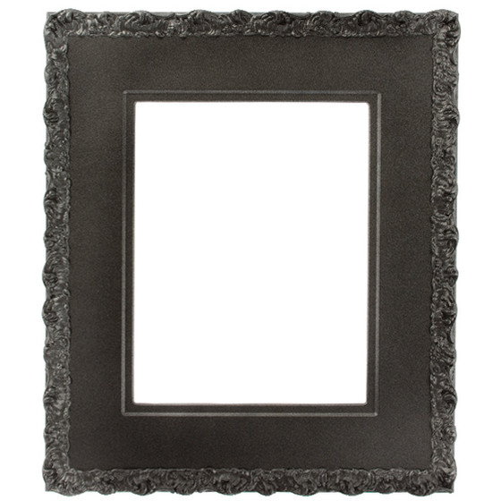 Williamsburg Rectangle Frame # 844 - Black Silver