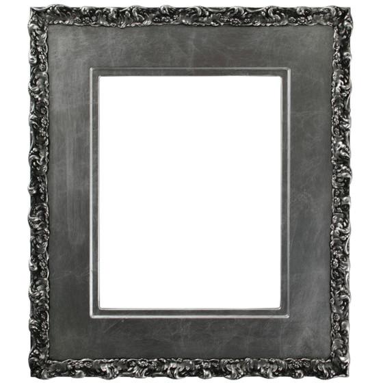 Williamsburg Rectangle Frame # 844 - Silver Leaf with Black Antique