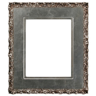 Williamsburg Rectangle Frame # 844 - Silver Leaf with Brown Antique