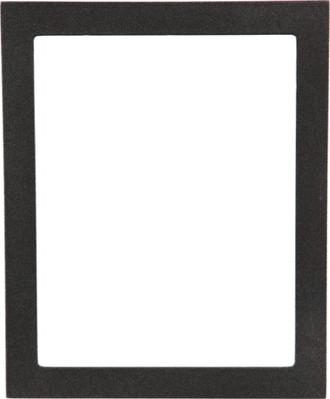 Manhattan Rectangle Frame # 851 - Black Silver