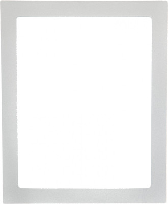 Manhattan Rectangle Frame # 851 - Bright Silver