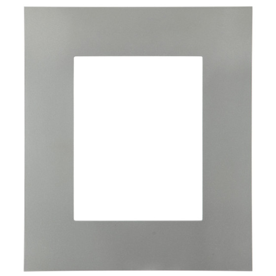 Rectangle Frame In Bright Silver Finish Wide Flat Profile Picture