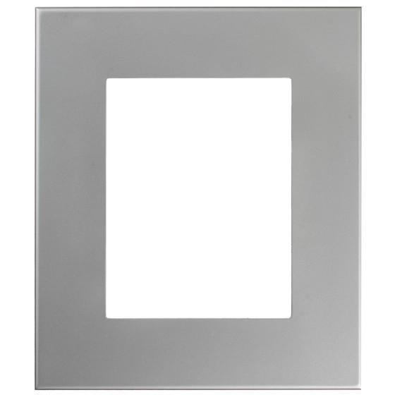 Boulevard Rectangle Frame # 864 - Bright Silver