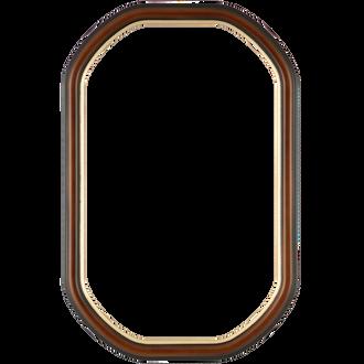 Hamilton #551 Octagon Frame - Walnut with Gold Lip