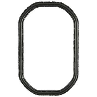 Virginia Octagon Frame #553 - Black Silver