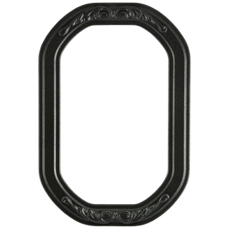 #821 Octagon Frame - Black Silver