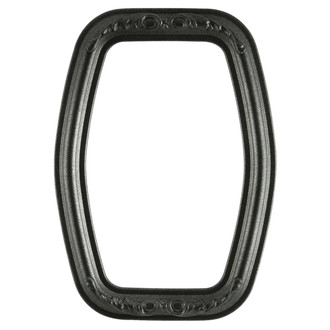 Florence Hexagon Frame #461 - Black Silver