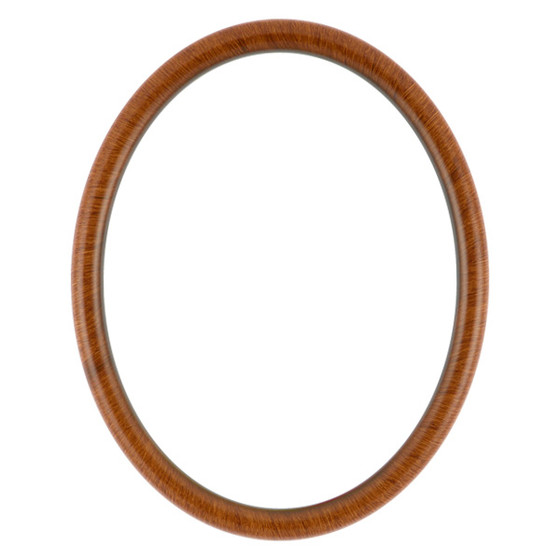 Oval Frame In Vintage Walnut Finish Antique Stripping On Oval